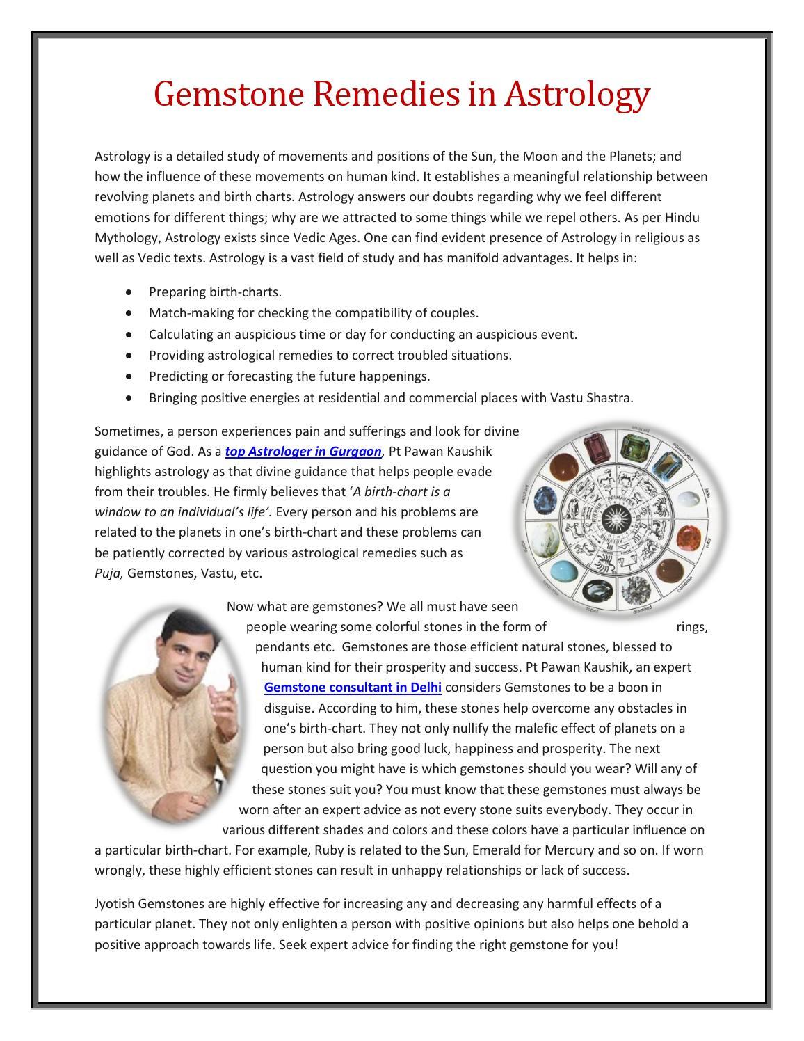 Gemstone Remedies In Astrology Pt Pawan Kaushik By Sumit Sharma
