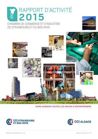 Rapport d 39 activit 2015 by cci alsace eurom tropole issuu for Chambre de commerce et d industrie strasbourg