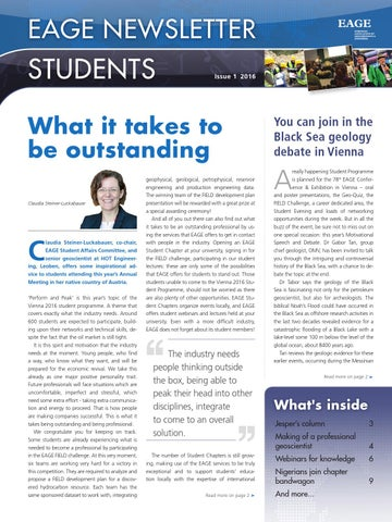 eage newsletter students 2016 issue 1 by eage issuu