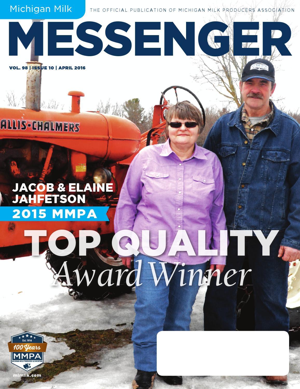 c4844cb63ab Michigan Milk Messenger  April 2016 by Michigan Milk Producers ...