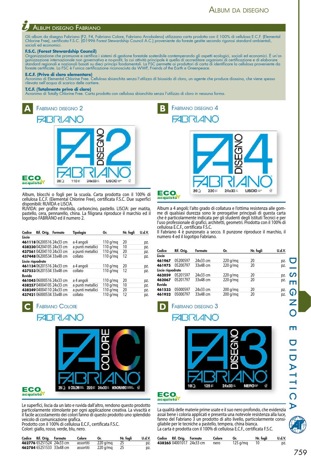 24X33 ALBUM FABRIANO 3 NERO 125 GR.MQ.10 FOGLI CM