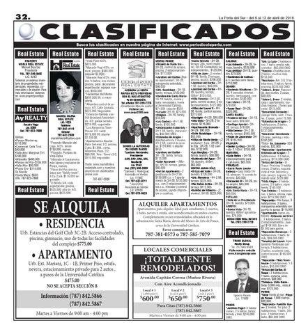 Clasificados 1688 by peri dico la perla del sur issuu for Anuncios clasificados gratis