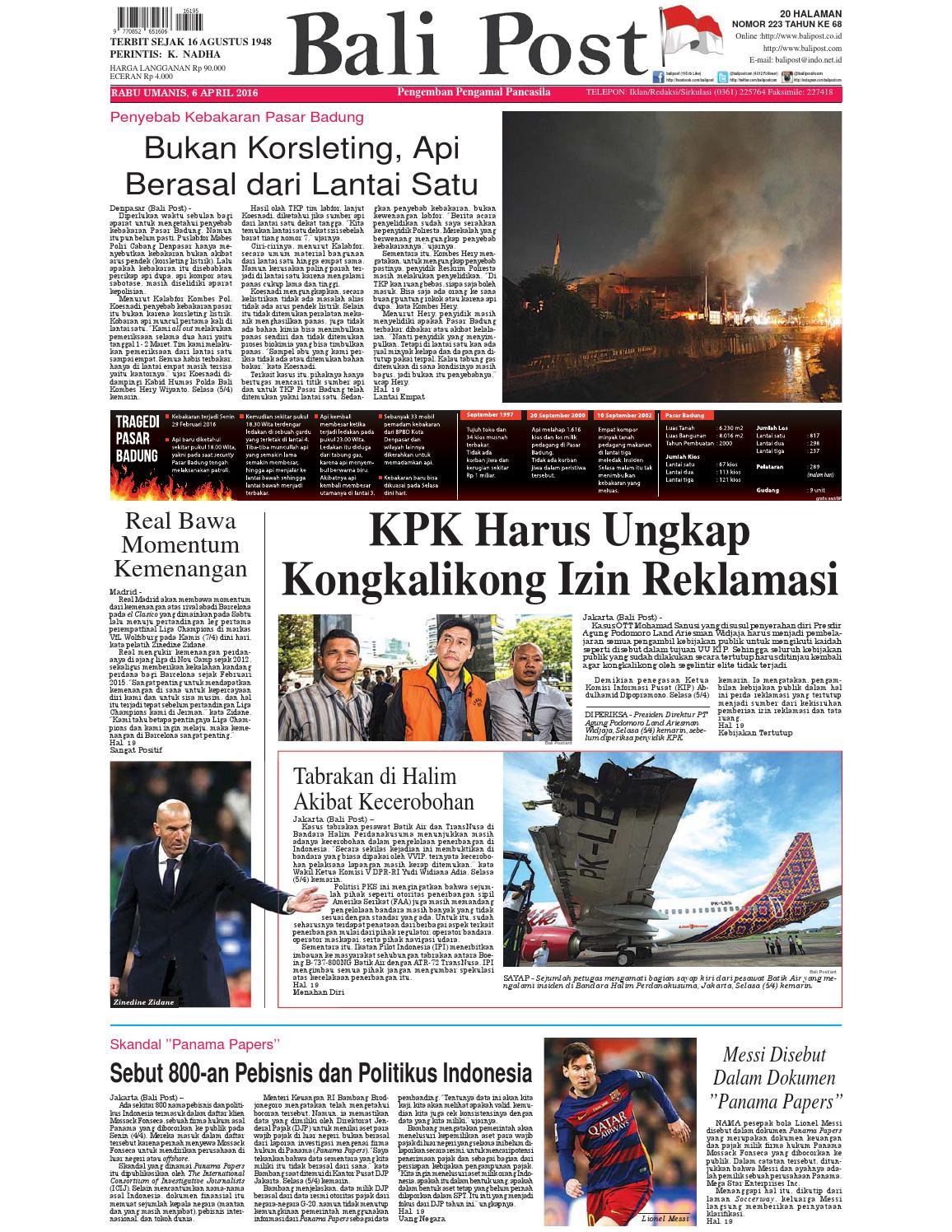 Edisi 06 April 2016 Balipostcom By E Paper Kmb Issuu Produk Ukm Bumn Tenun Pagatan Atasan Wanita 4