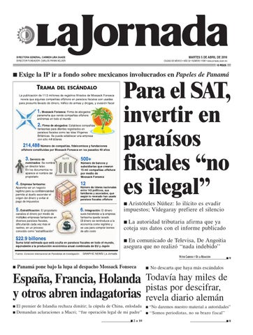 La Jornada 04 05 2016 By La Jornada Issuu