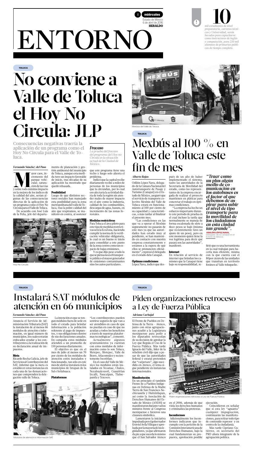 Miércoles 6 Abril 2016 By Heraldo Estado De México Issuu