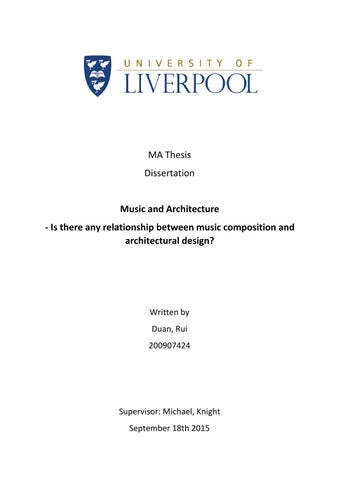 music and architecture dissertation