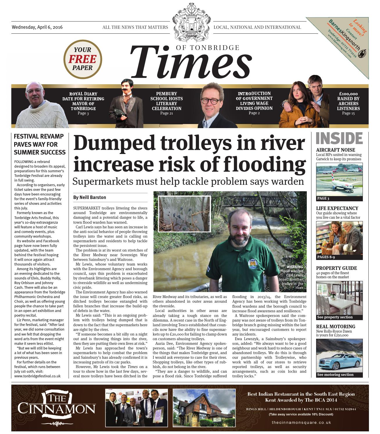 Times of Tonbridge 6th April 2016 by e Media issuu