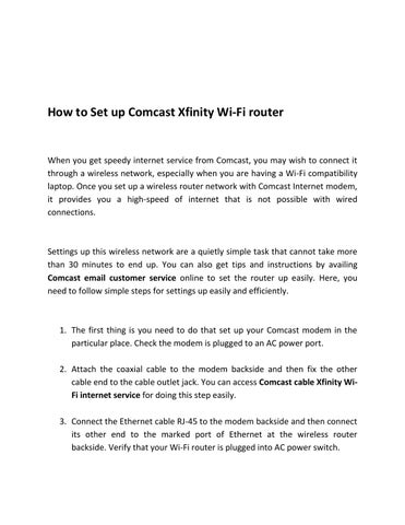 How to Set Up Comcast Xfinity Wi-Fi Router by Lisa Heydon - issuu Xfinity Comcast Ethernet Wiring Diagram on
