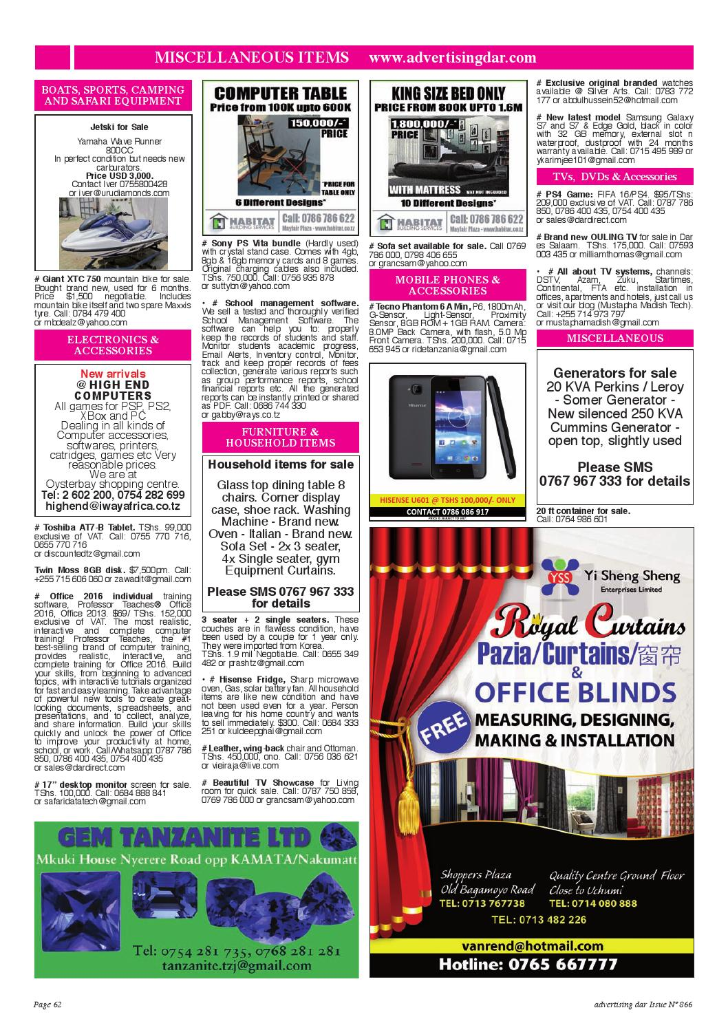 Advertising Dar Issue Nº 867 - 8th April 2016 by Advertising