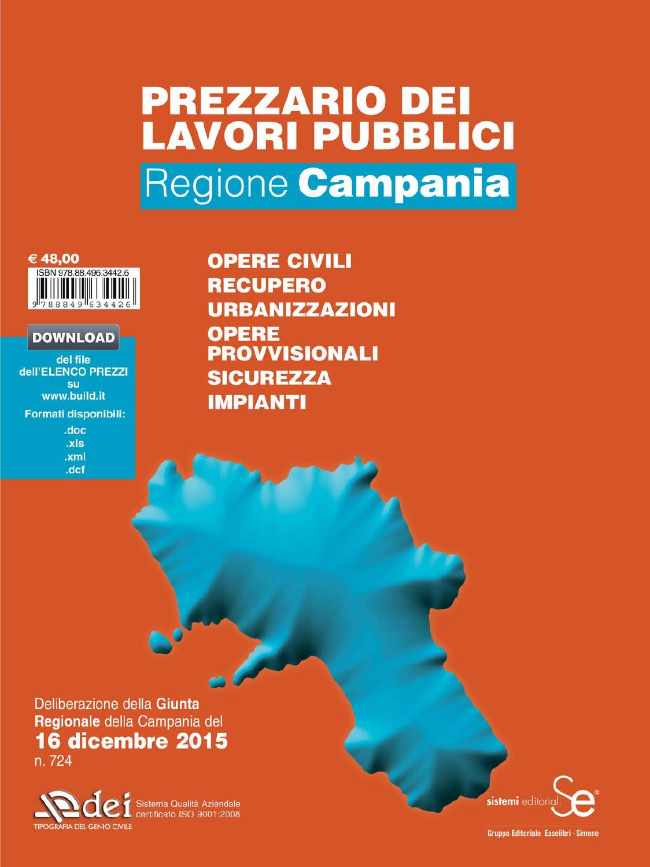prezzario lavori pubblici 2016 regione campania by dei