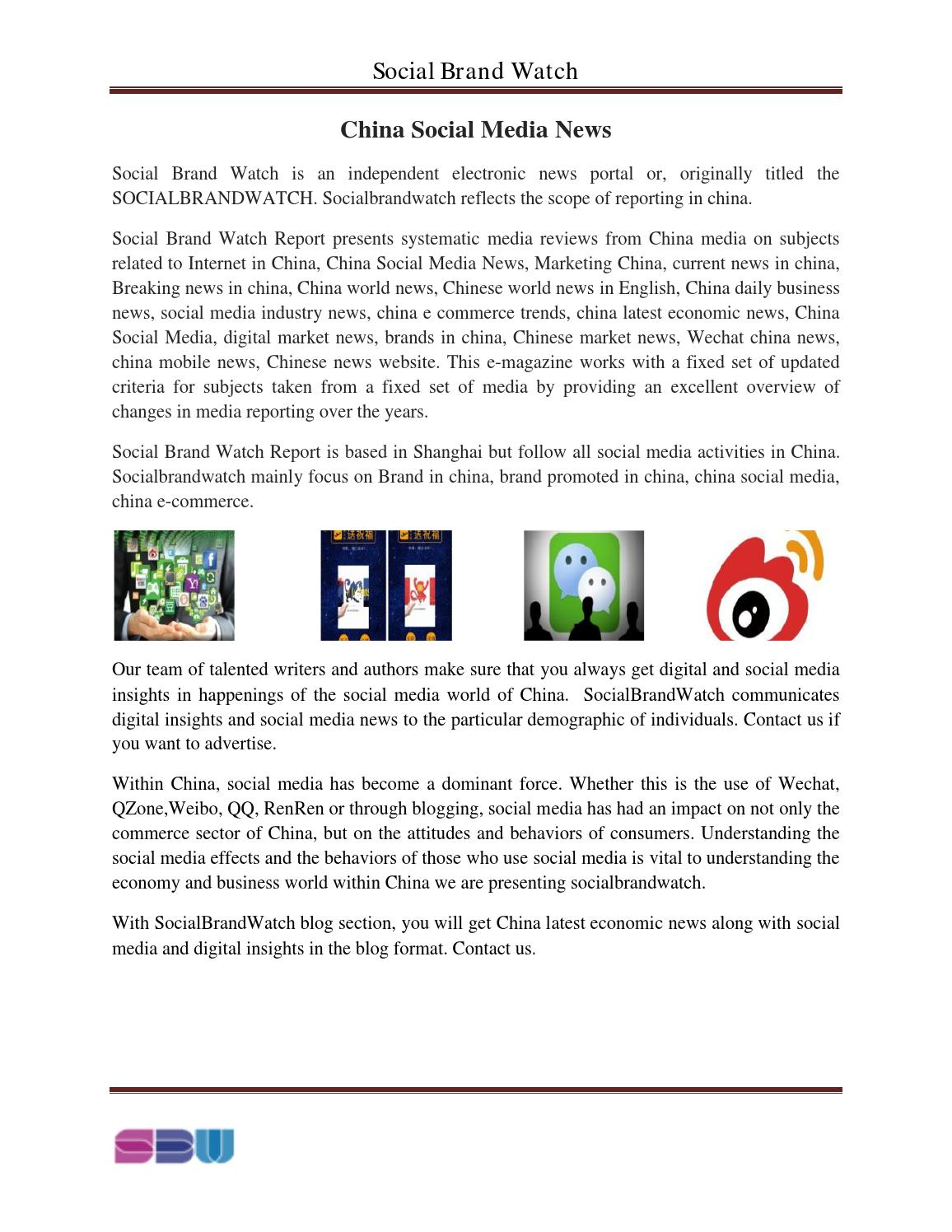 China social media news by Social Brand Watch - issuu
