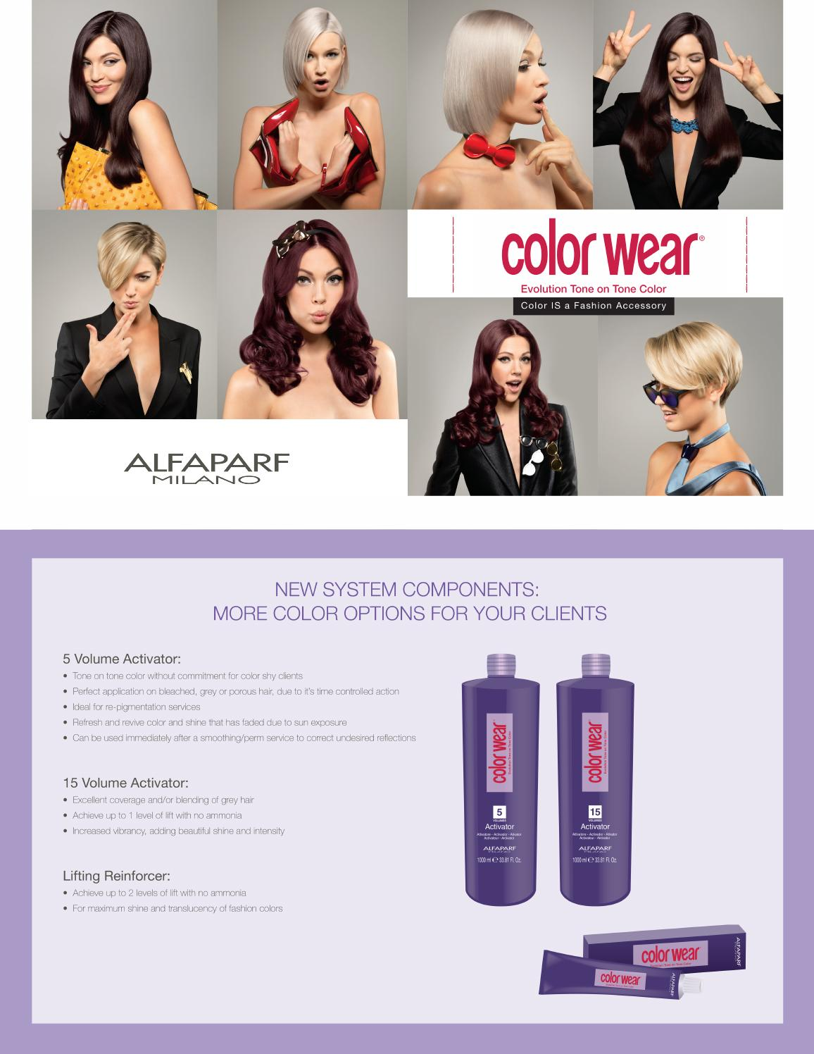 Alfaparf Milano Color Wear Technical Chart By Alfaparf Milano Usa