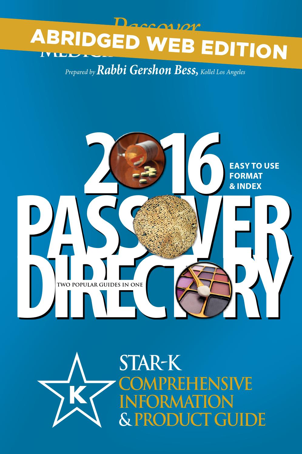Star k passover directory 2016 by star k kosher issuu biocorpaavc Gallery