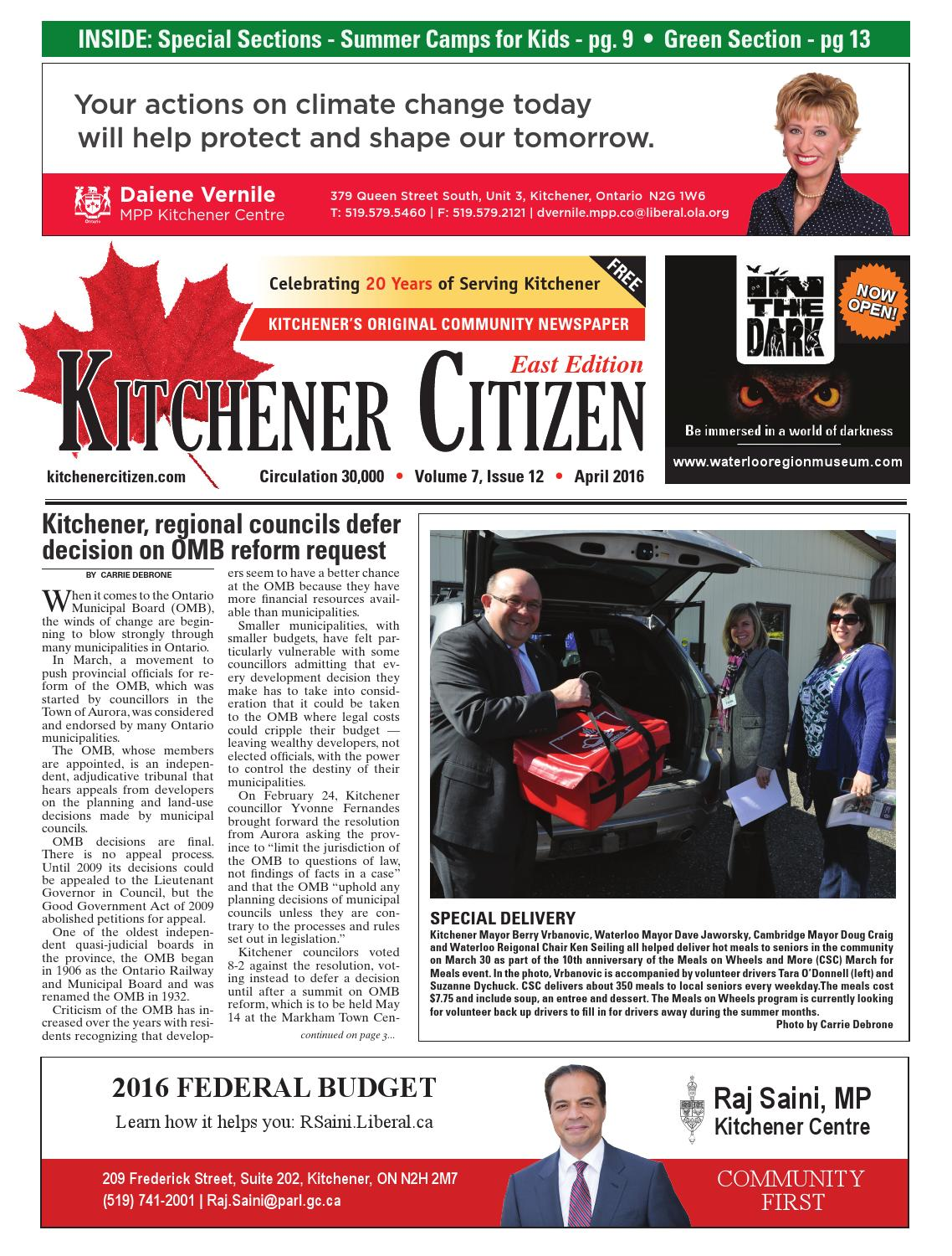 Kitchener Citizen - East Edition - April 2016 by Kitchener Citizen ...