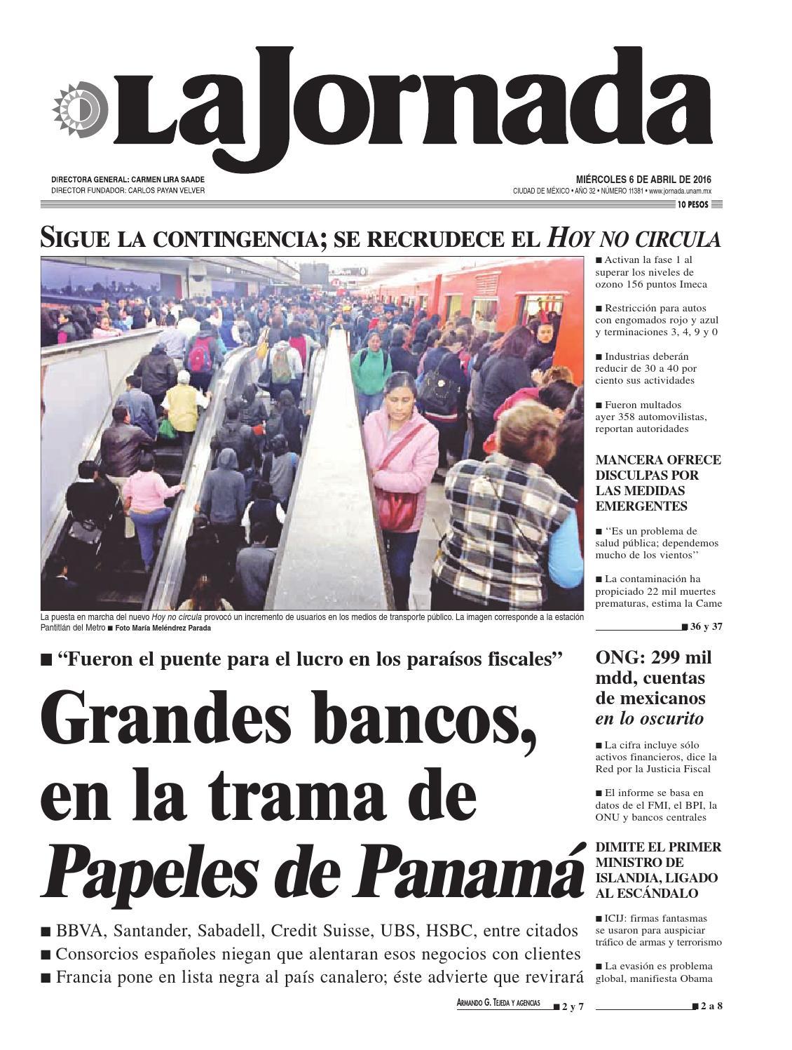 La Jornada, 04/06/2016 by La Jornada: DEMOS Desarrollo de Medios SA ...