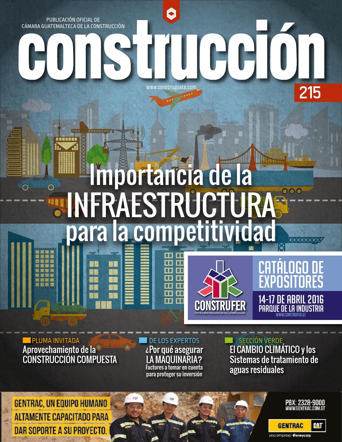 Revista construcci n 215 by c mara guatemalteca de la - Empresas de construccion en madrid ...