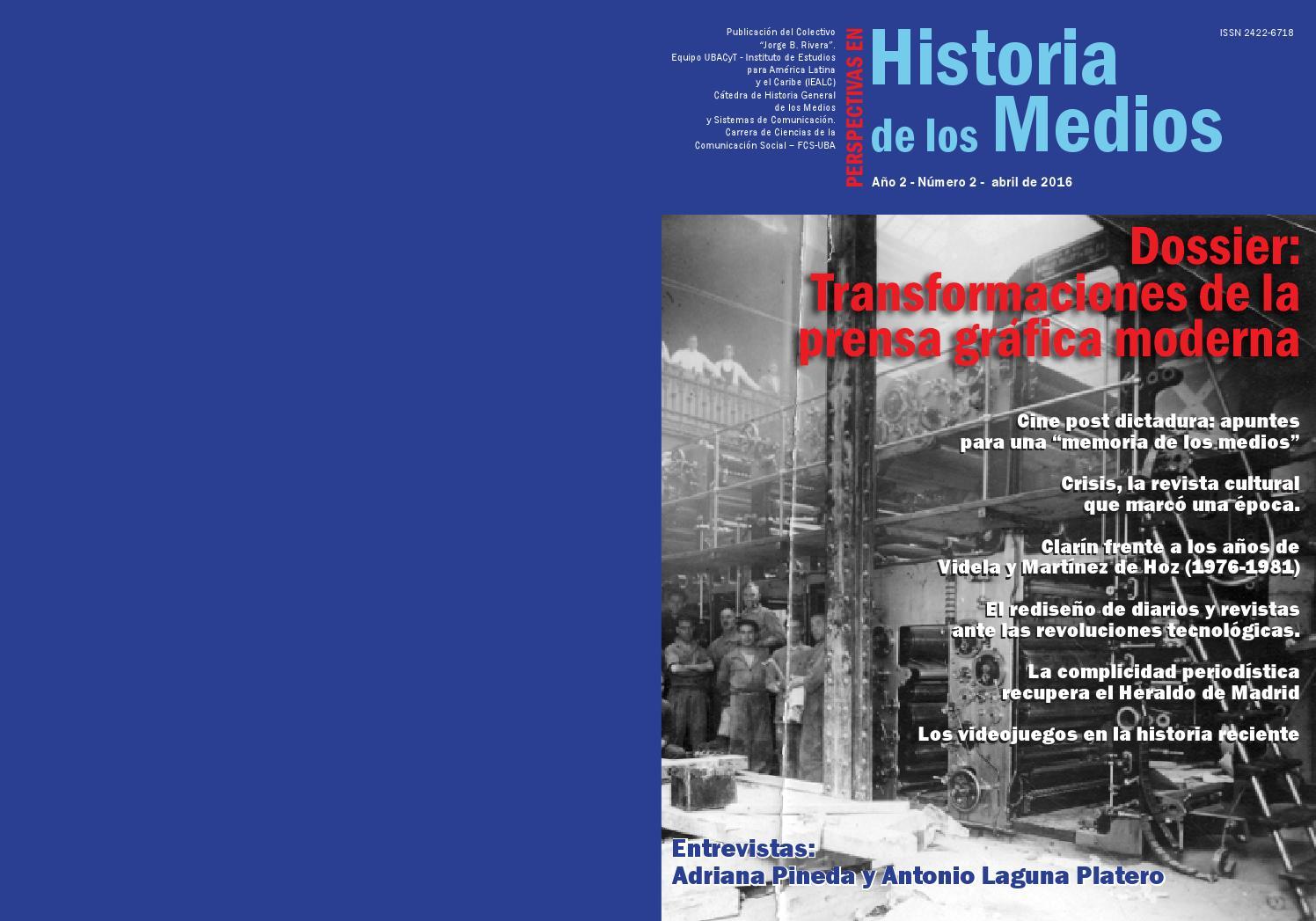 Perspectivas En Historia De Los Medios N 2 By C Tedra De Historia  # Muebles Jozami Paran? Entre R?os