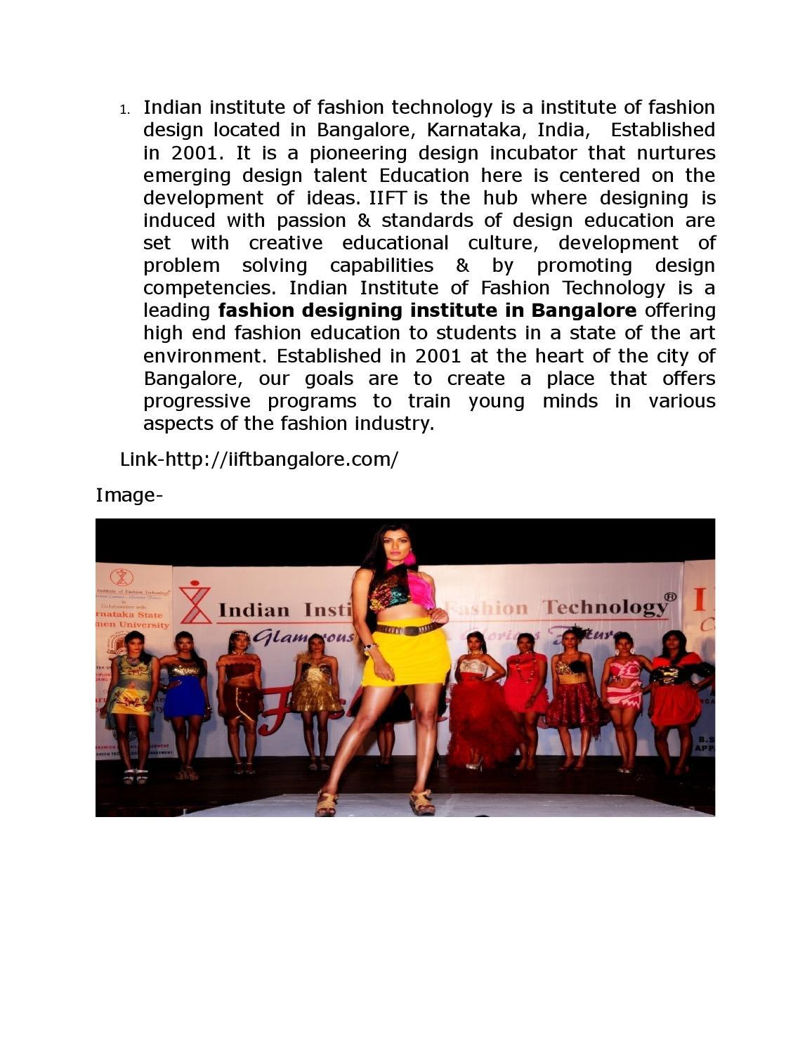 Best Fashion Designing College In Bangalore By Ankita Bharti Issuu