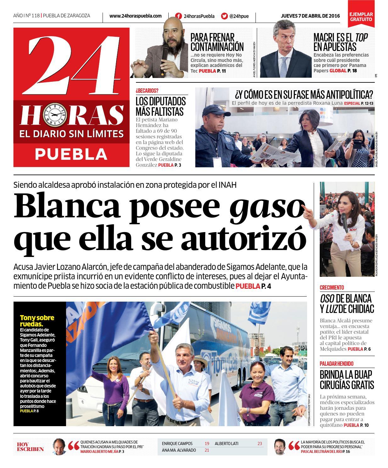 24h–abril 07 puebla by 24 Horas Puebla - issuu