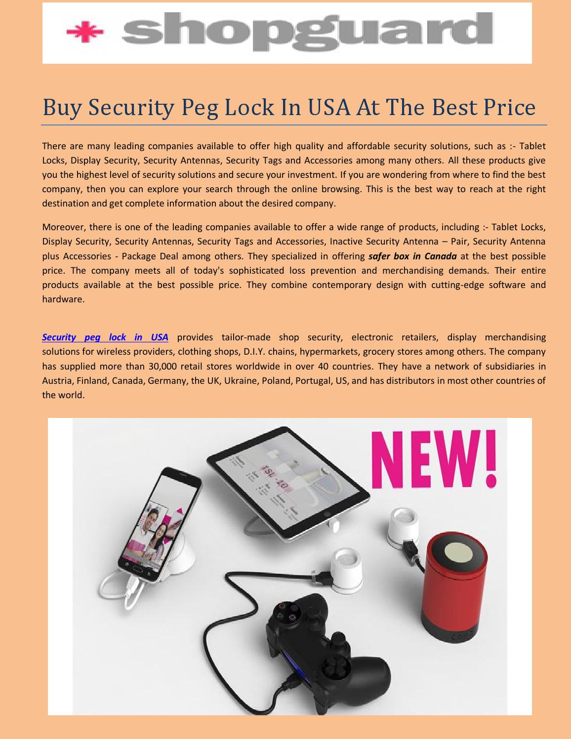 Buy security peg lock in usa at the best price by for Best buy burglar alarms