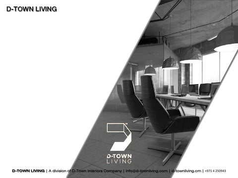 D Town Living Company Profile White By Veena Shanish Issuu