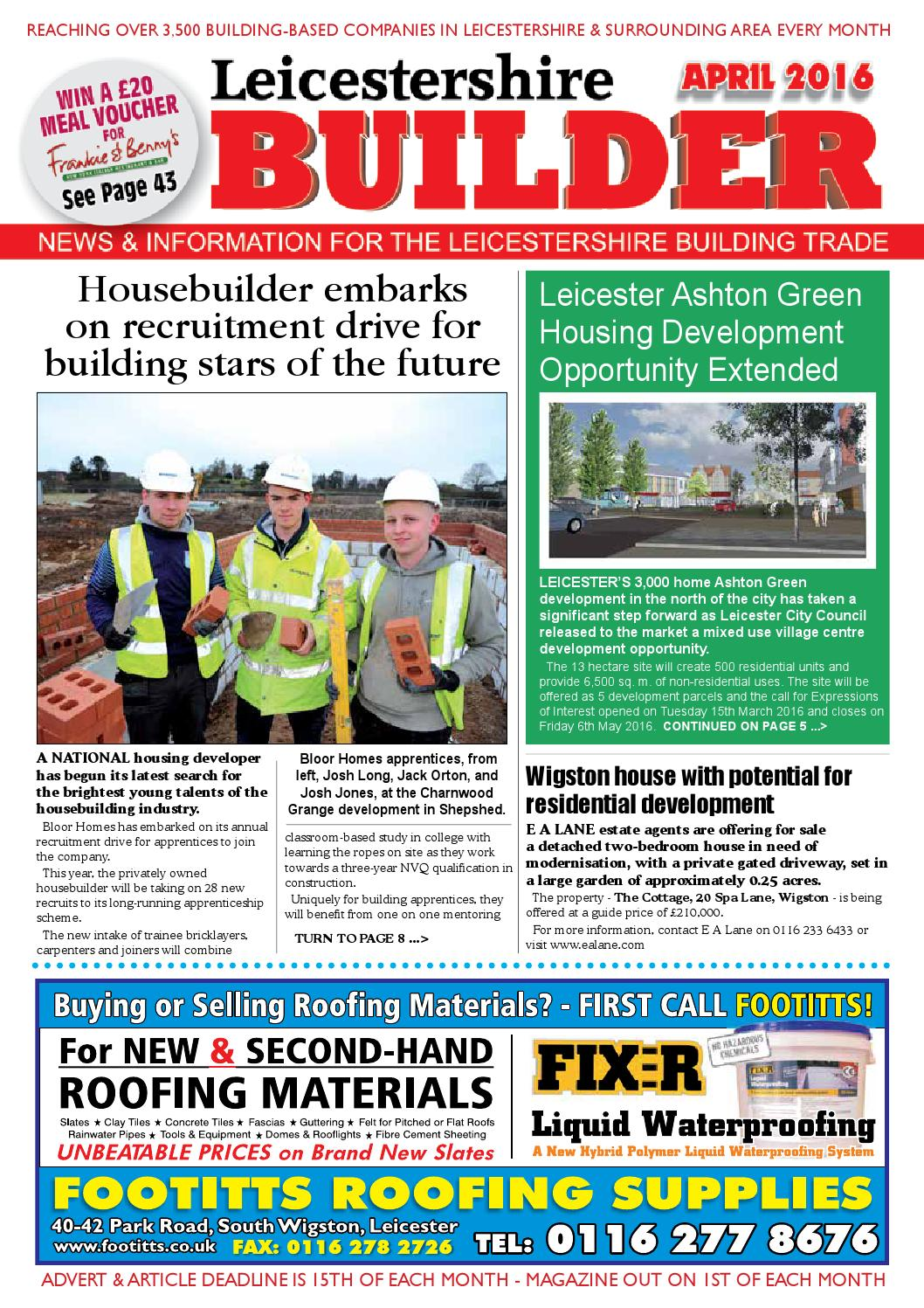 April 2016 leicestershire builder online by Michael