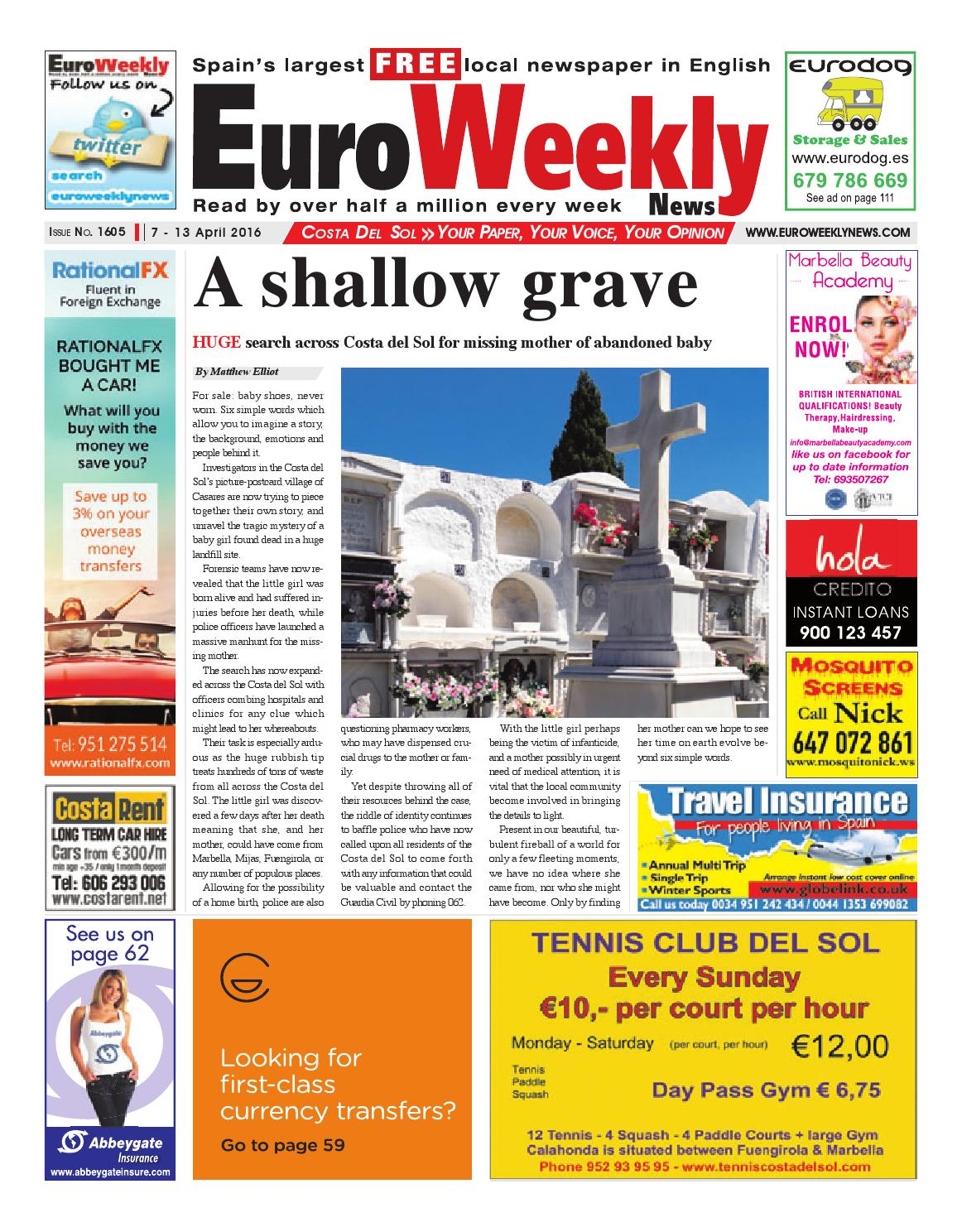 d2b1800841 Euro Weekly News - Costa del Sol 7 - 13 April 2016 Issue 1605 by ...
