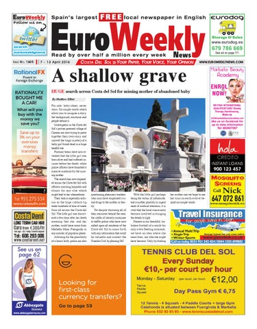 Euro Weekly News - Costa del Sol 7 - 13 April 2016 Issue 1605 by