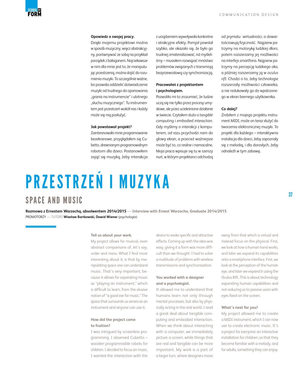 SCHOOL OF FORM GRADUATION 2 CATALOGUE by Monika Wietrzynska