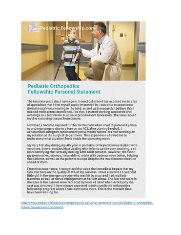 Pediatric Orthopedics Fellowship by Pediatric Fellowship Personal