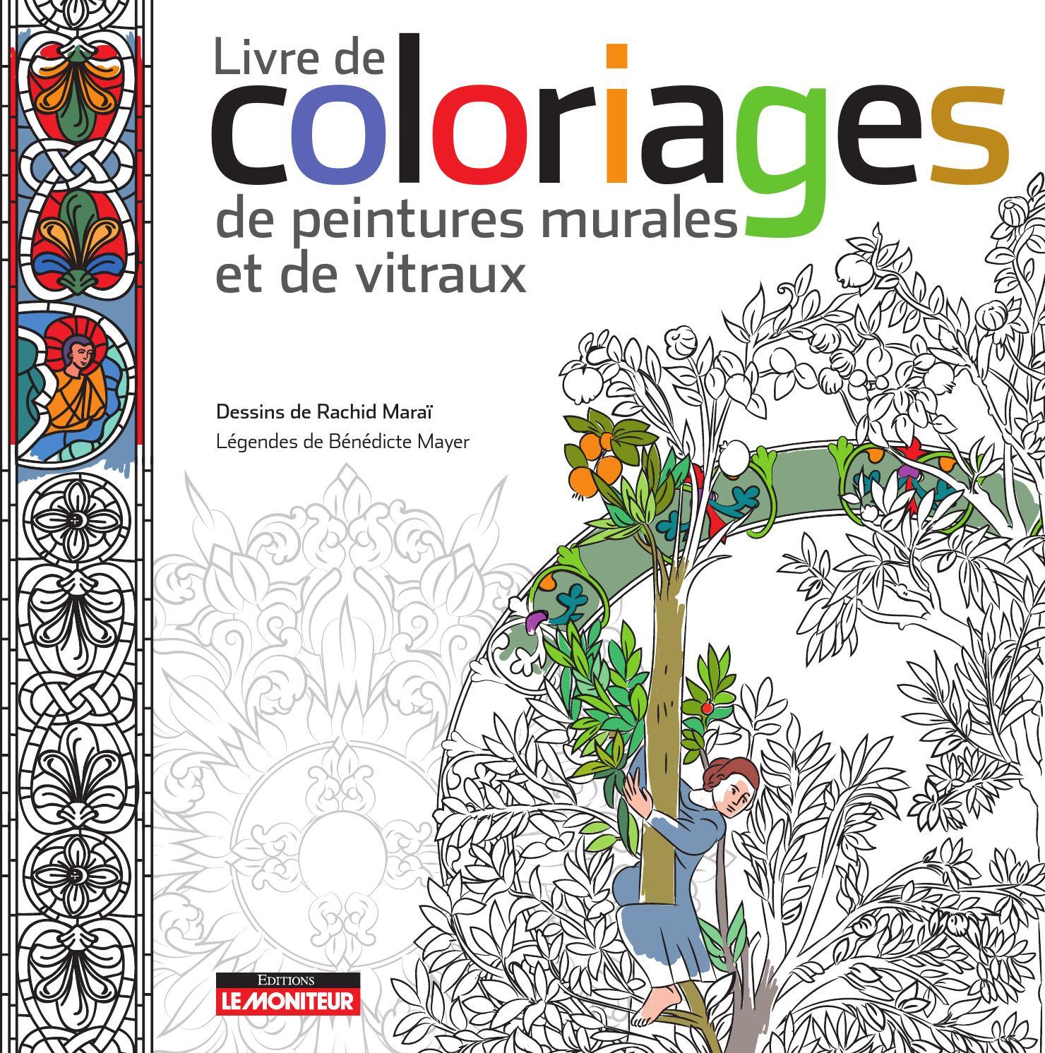 Livre de coloriages de peintures murales et de vitraux by infopro digital issuu - Vitraux a colorier ...