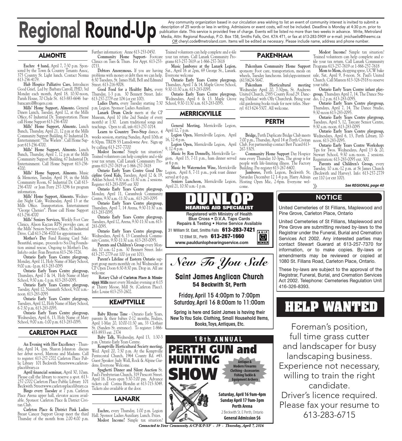 smithsfalls040716 by metroland east - smiths falls record news - issuu