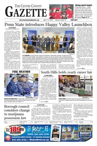 official photos b051d 18a8c Centre County Gazette, April 7, 2016 by Indiana Printing ...