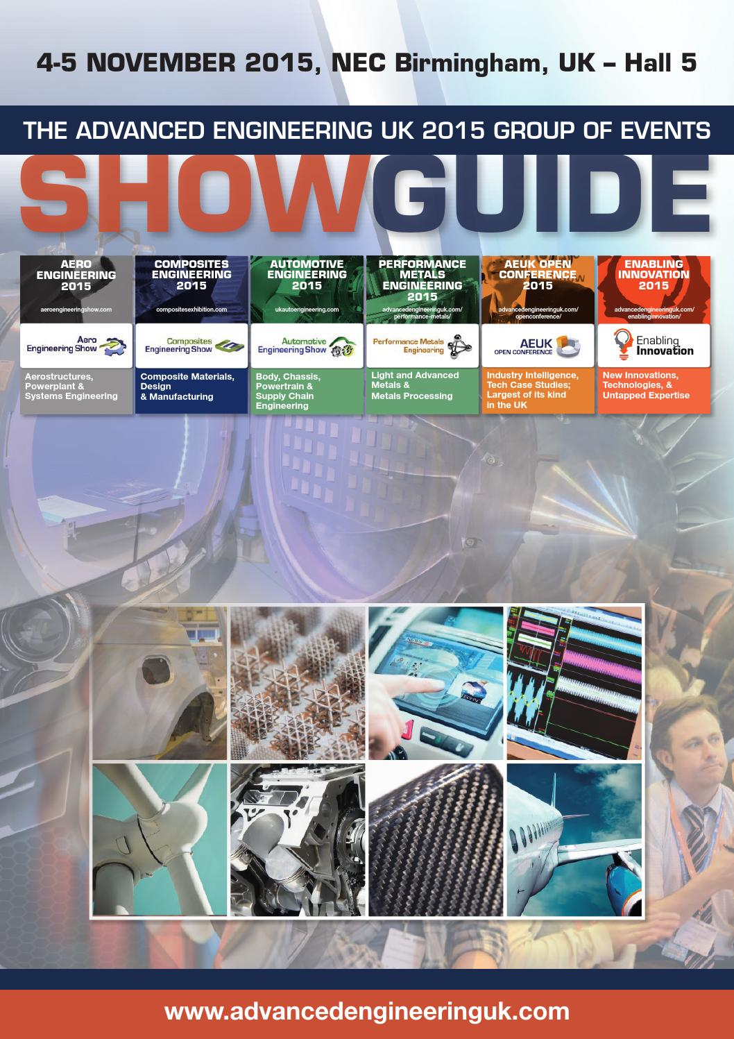 The Advanced Engineering UK 2015 Group of Events Show Guide