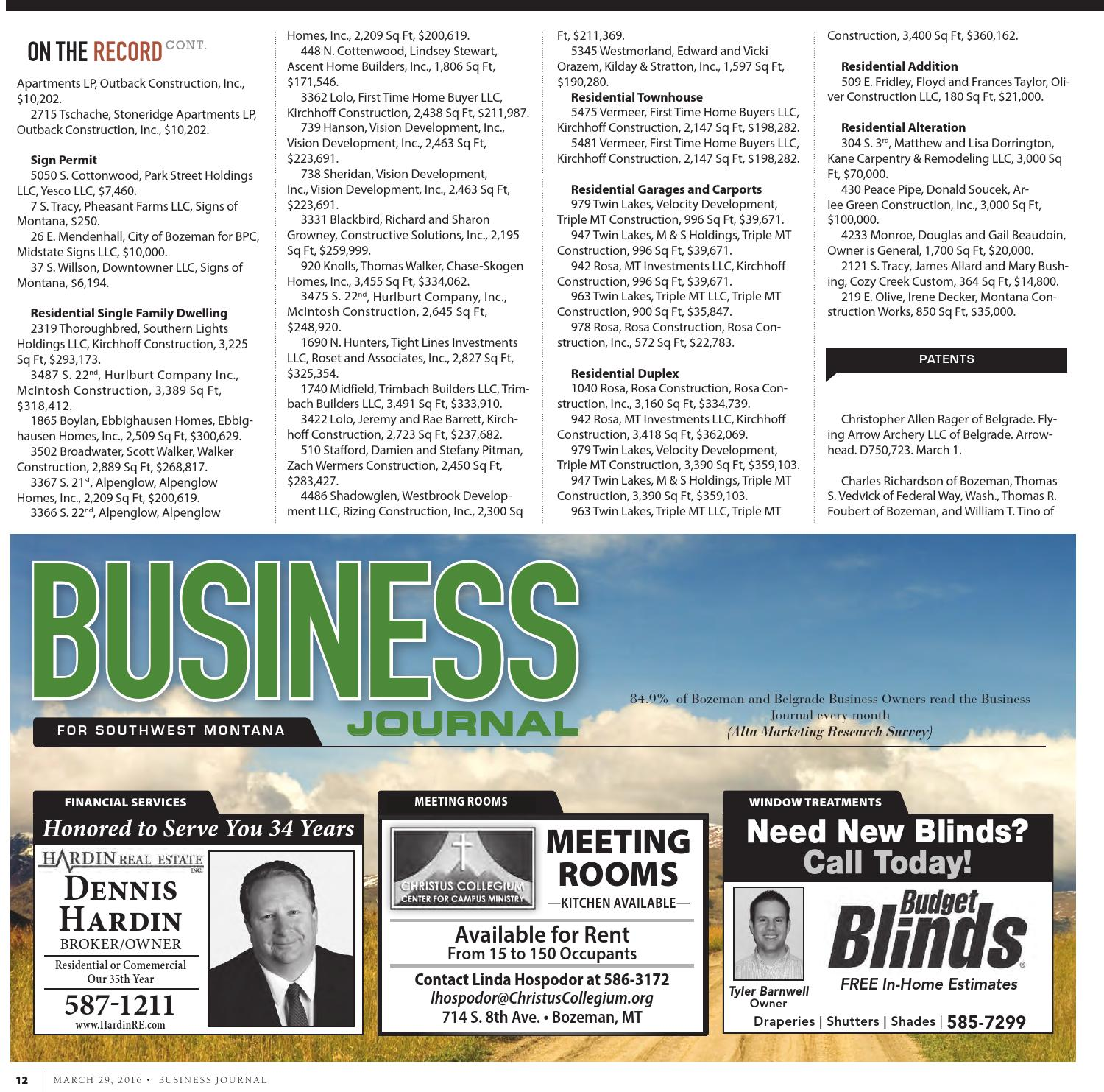 Business Journal - March 2016 by Bozeman Daily Chronicle - issuu
