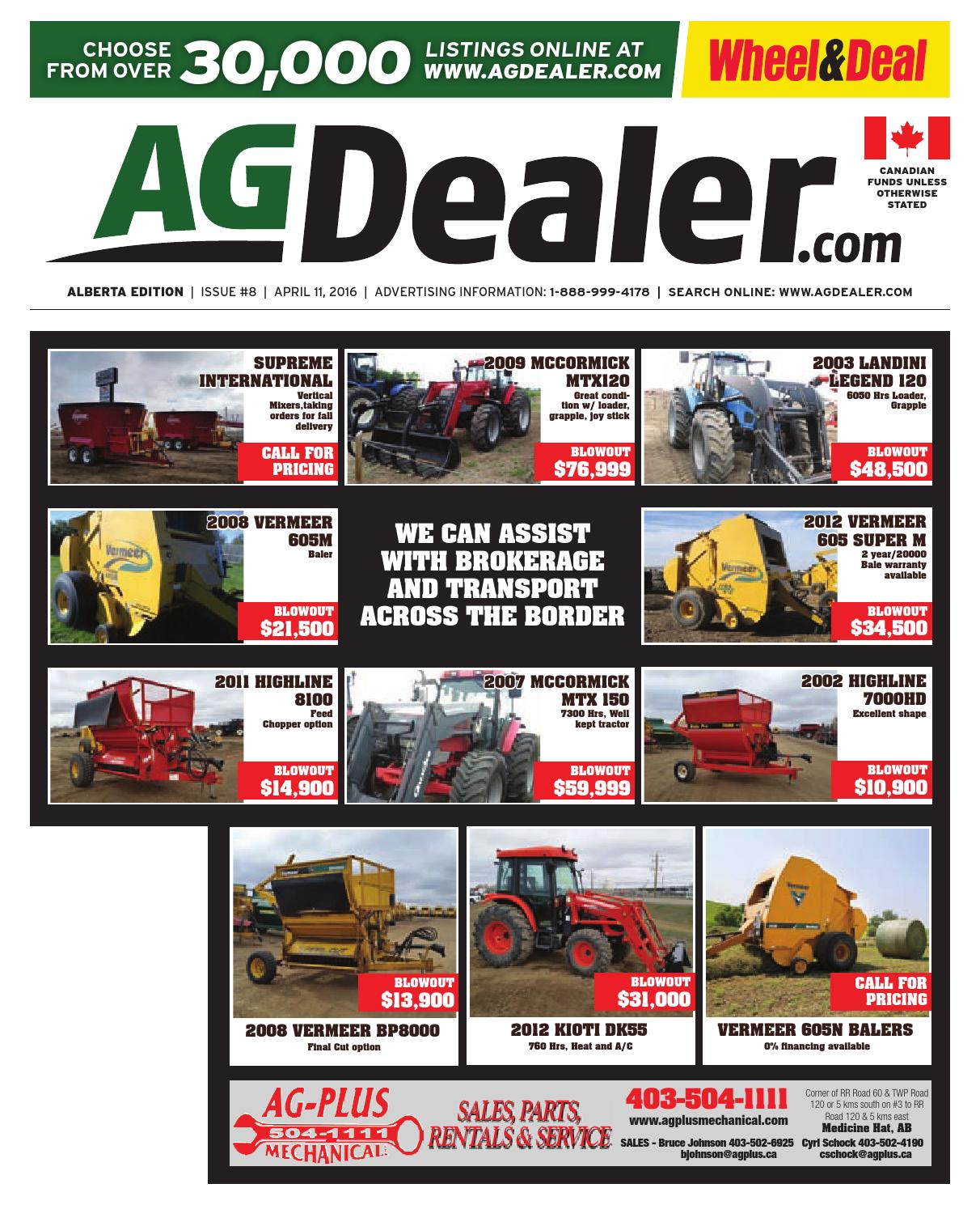 Wheel & Deal Alberta, April 11, 2016 by Farm Business Communications -  issuu