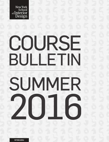 Summer 2016 Course Bulletin