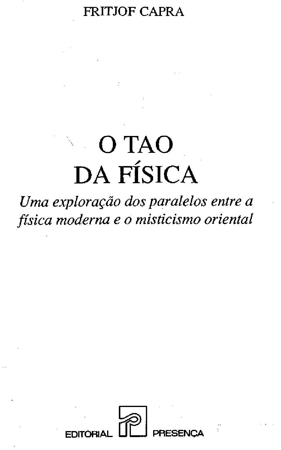 a30d947afe9 O tao da fisica by Camila Vianna - issuu
