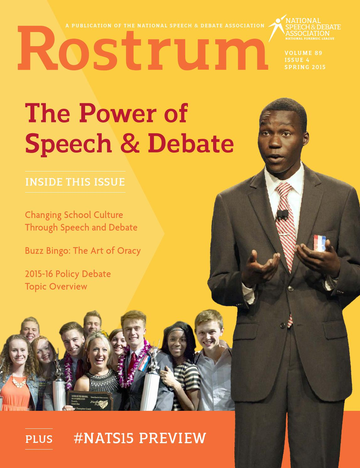 2015 spring rostrum by speech debate issuu fandeluxe Choice Image