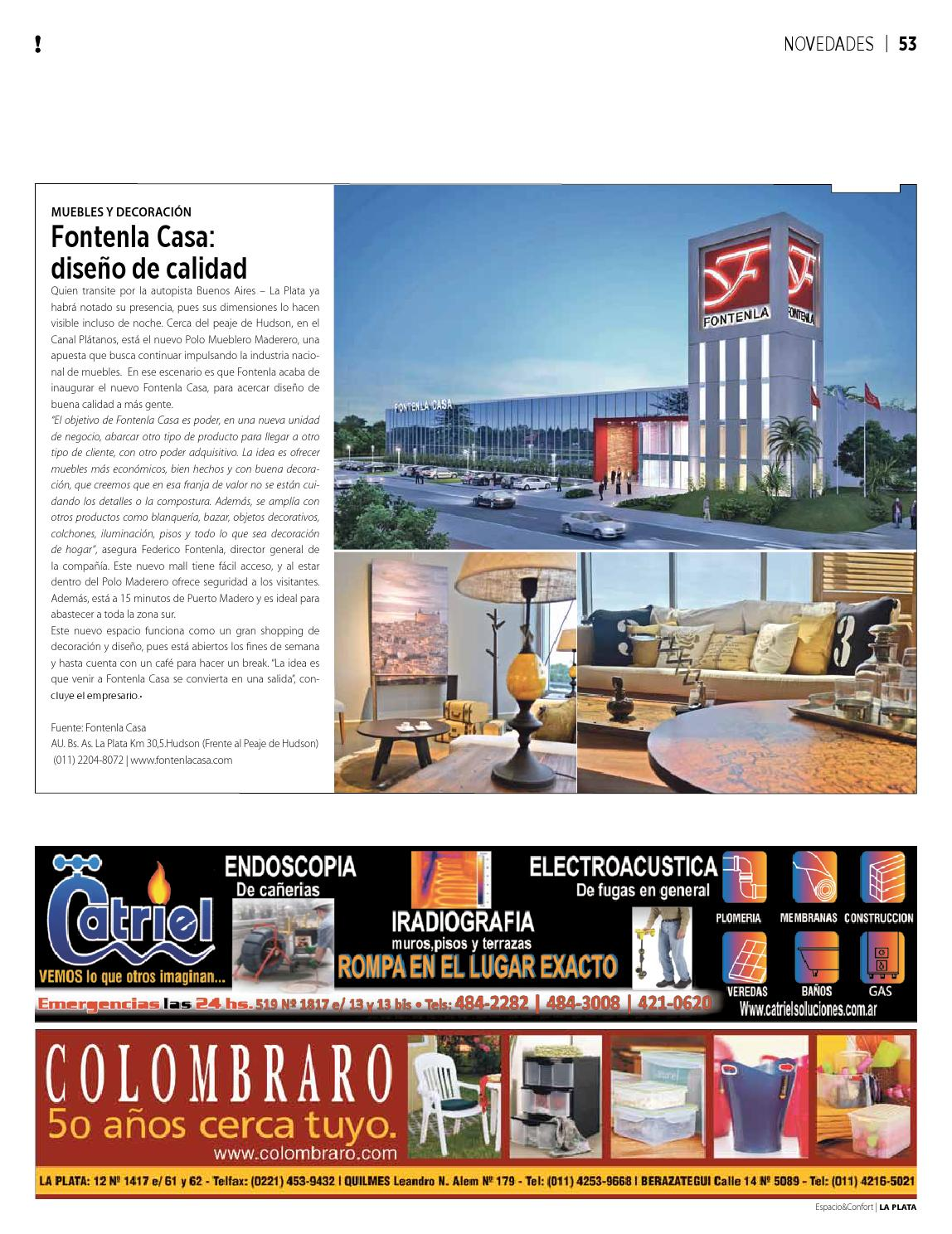 139 Lp Abril By Revista Espacio Confort Arquitectura  # Fontenla Muebles Hudson