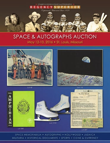 Nice Space & Autographs Auction May 2016 by Regency Superior issuu  supplier