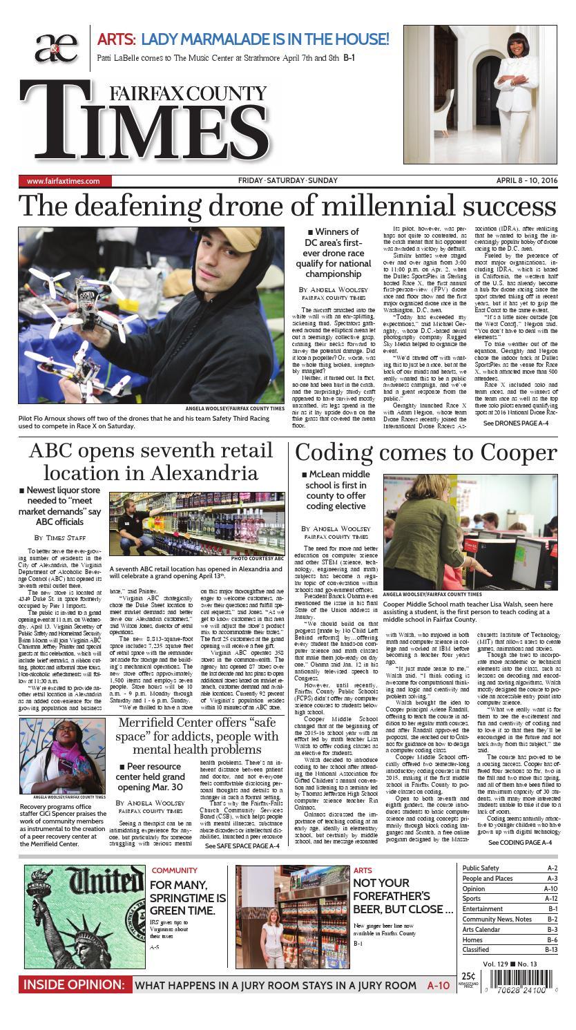 Fairfax County Times 04-08-16 Edition by The Fairfax Times - issuu