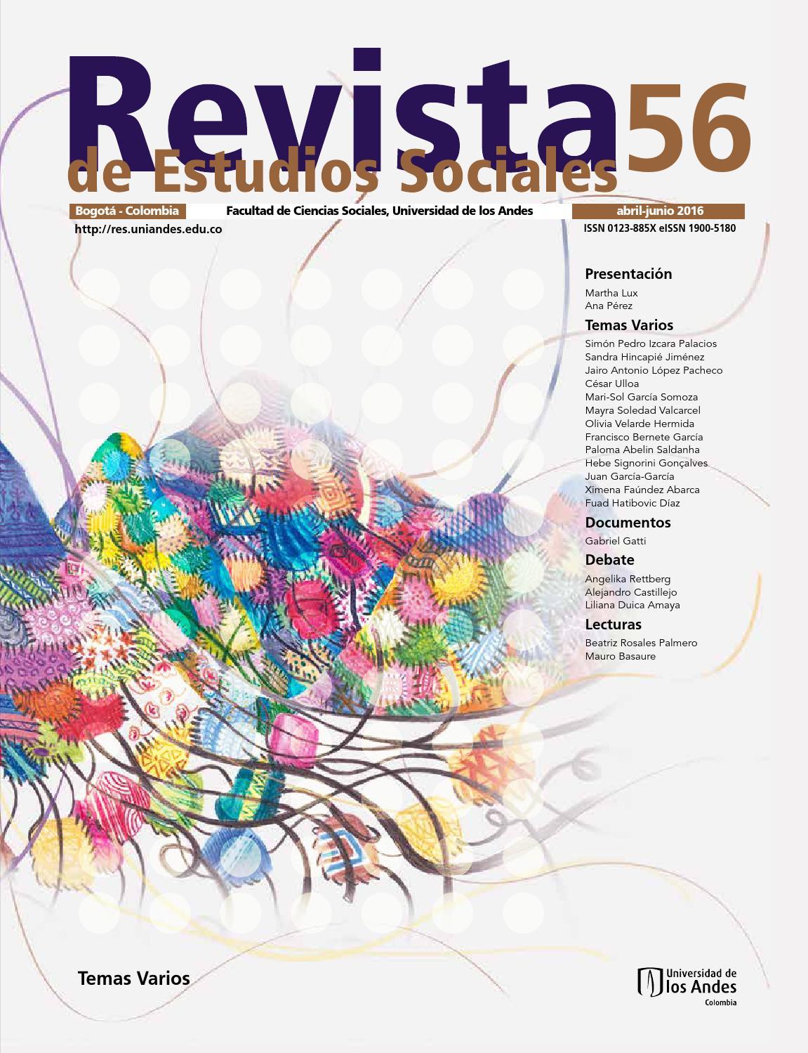 Revista de Estudios Sociales No. 56 by Publicaciones Faciso - issuu