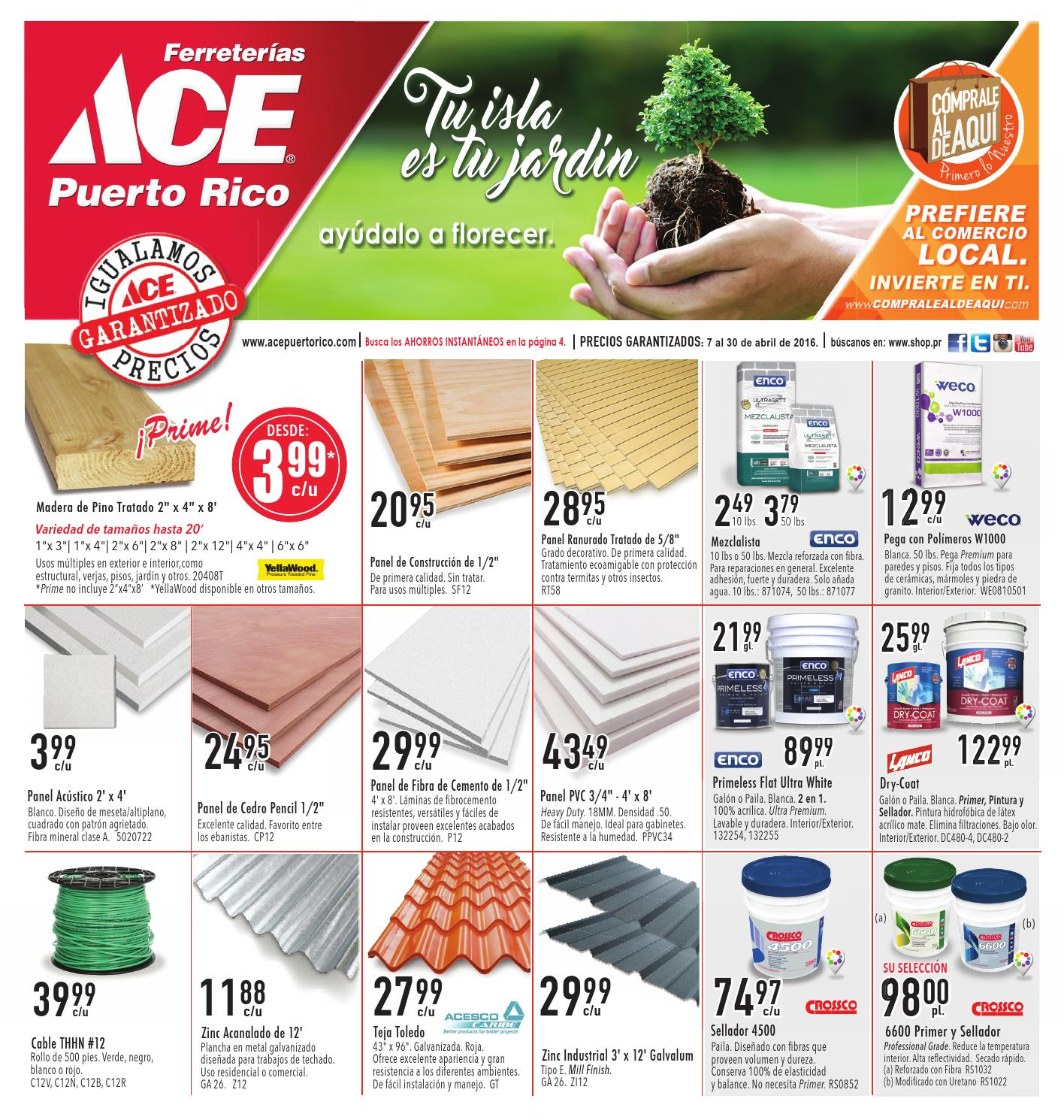 Shopper Abril 2016 Ferreter As Ace Puerto Rico By Ferreter As Ace  # Muebles Madera Puerto Rico