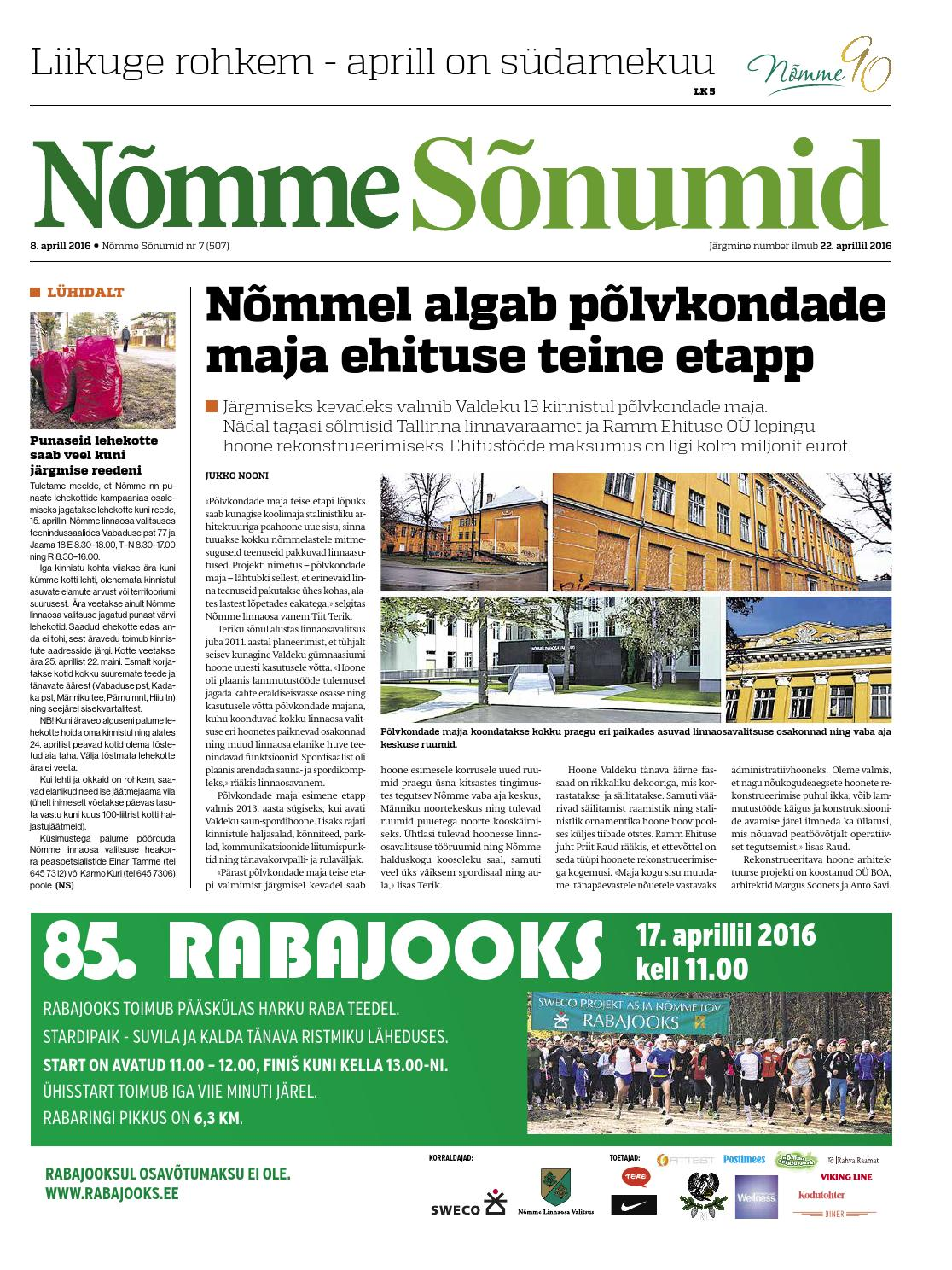 7914c2e0aa3 Nõmme Sõnumid nr 7 (2016) by Nõmme linnaosa - issuu