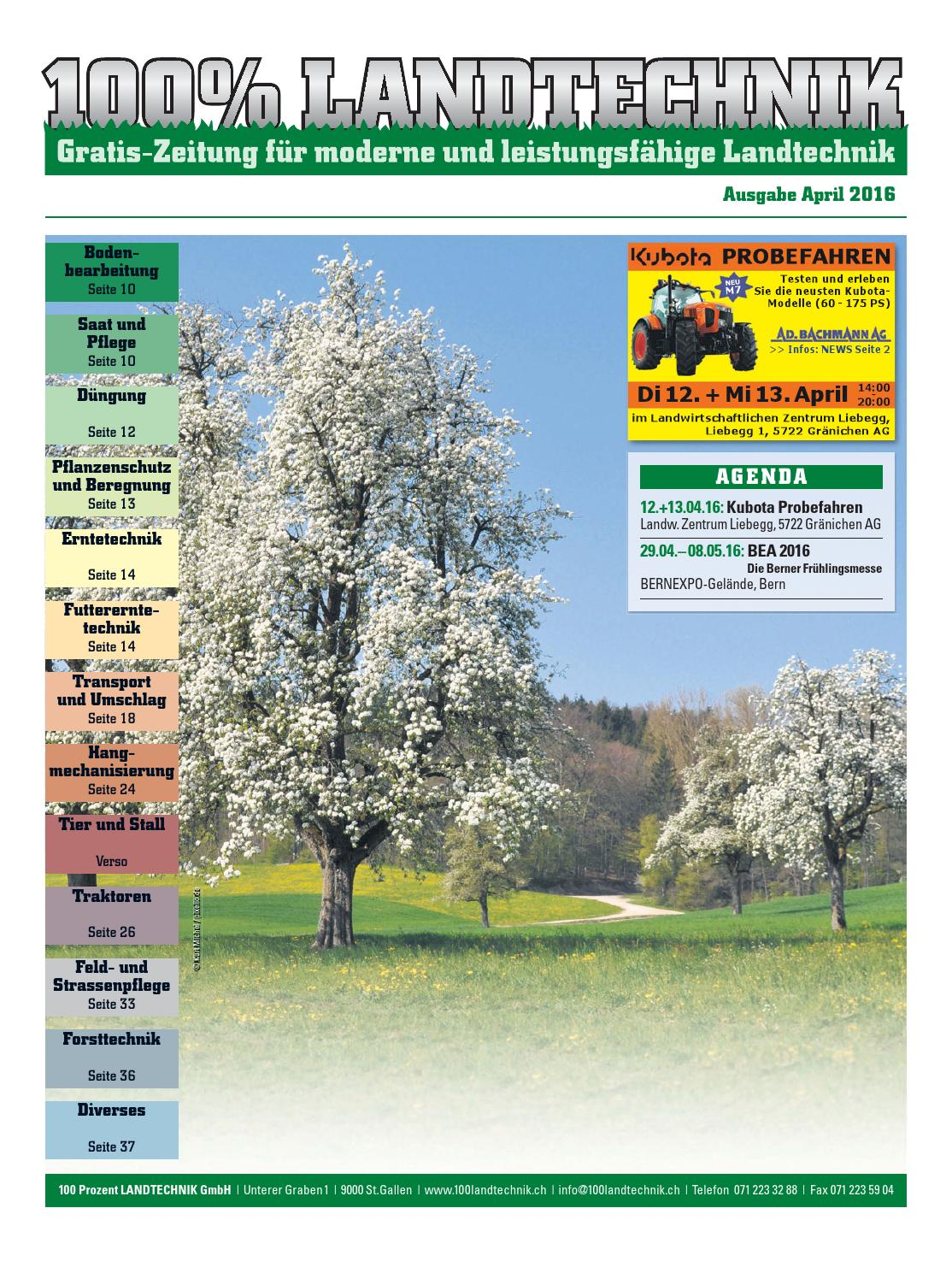 100 Landtechnik No 85 April 2016 By 100 Landtechnik Issuu