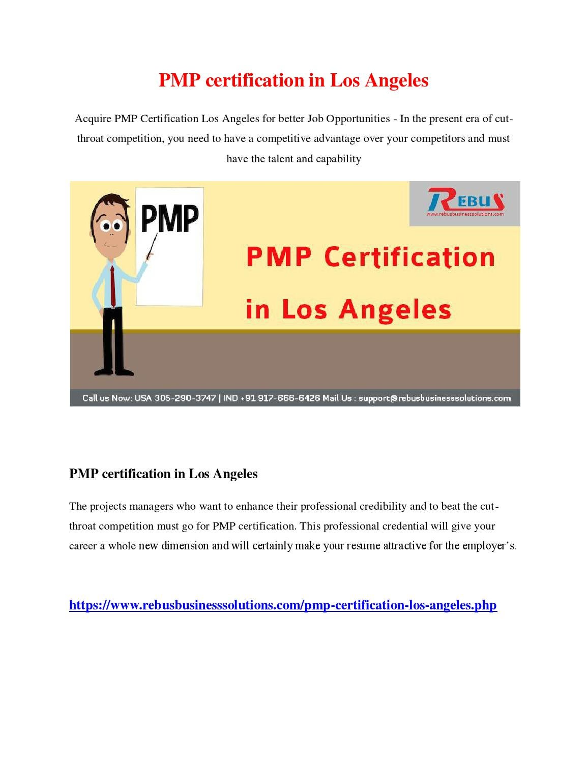 Pmp Certification In Los Angeles By Deviprabakar Issuu