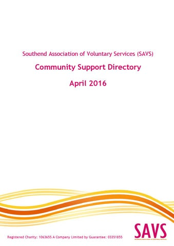 Savs community support directory april 2016 by southend association page 1 thecheapjerseys Images