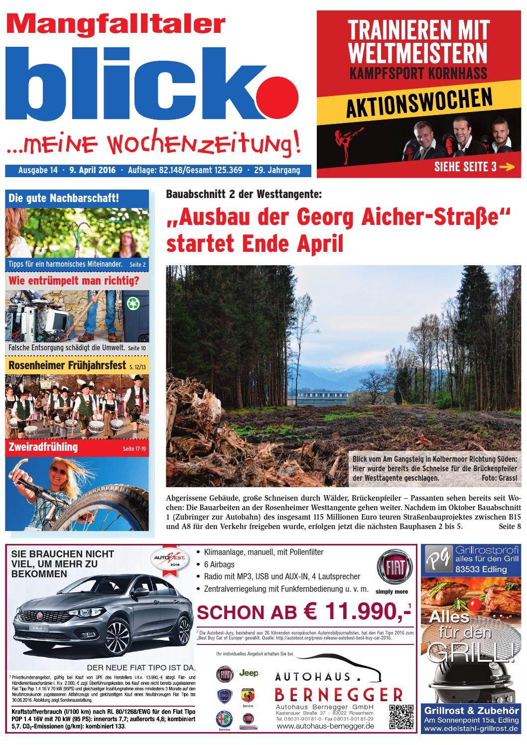 Mangfalltaler Blick Ausgabe 14 2016 By Blickpunkt Verlag