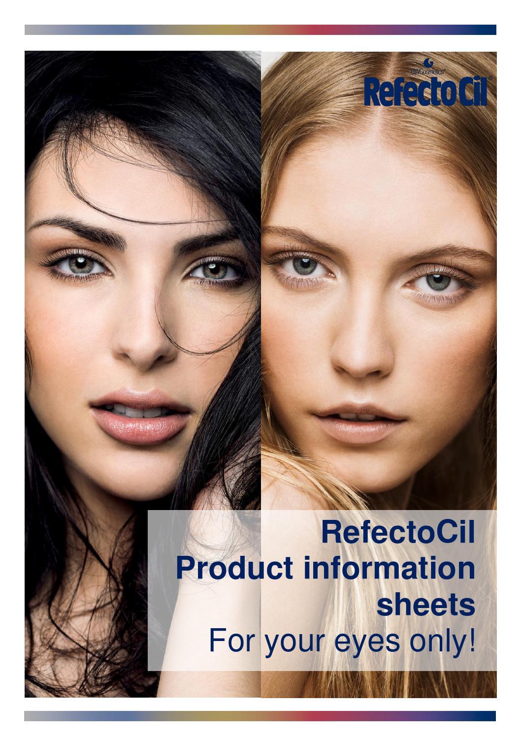 Refectocil product information sheets by marina sulzer issuu nvjuhfo Choice Image